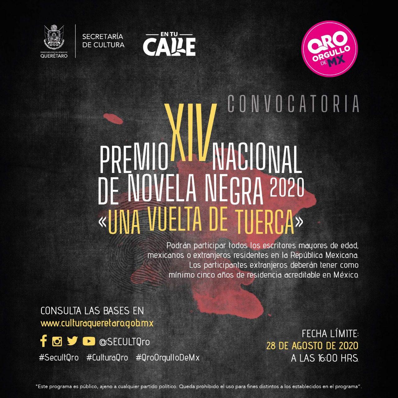 """Lanzan convocatoria al XIV Premio Nacional de Novela Negra """"Una Vuelta de Tuerca"""""""